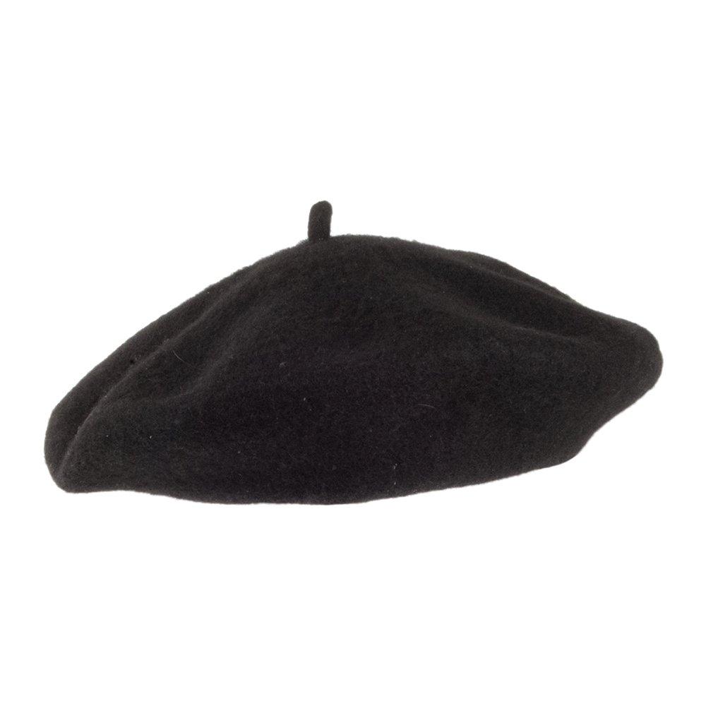 c9330e71511 Village Hats Kids Wool Beret - Black Kids - 1-Size  Amazon.co.uk  Clothing