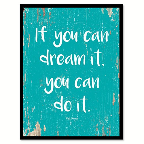 SpotColorArt If You Dream It You Can Do It Walt Disney Handcrafted Canvas Print, 7