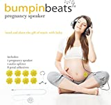 bumpinbeats Pregnancy Speaker. Play Music and Sound on Moms Belly. Includes 1 Speaker, Audio Splitter for Bonding with Baby, and 8 Petal Shape Adhesives to Attach to Your Belly.