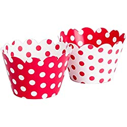 Polka Dot Cupcake Wrappers (Red / White)