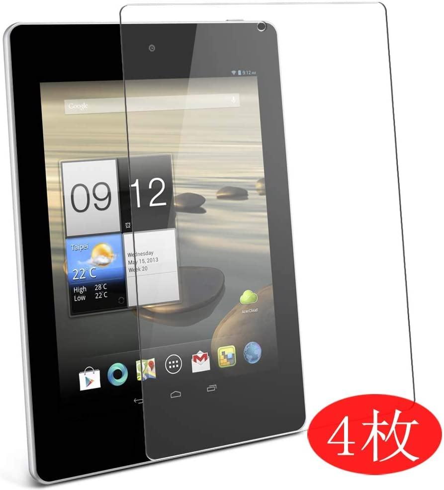"""【4 Pack】 Synvy Screen Protector for Acer Iconia Tab A1-810 7.9"""" 0.14mm TPU Flexible HD Clear Case-Friendly Film Protective Protectors [Not Tempered Glass] New Version"""