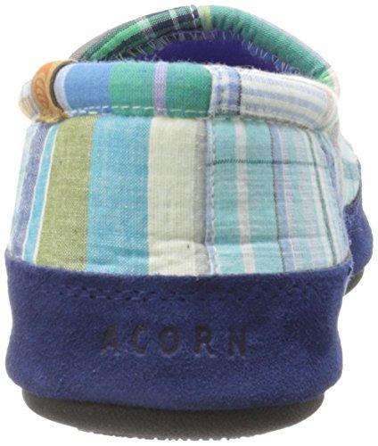 Women's Acorn Blue Blue Moc Madras Women's Acorn Moc aABqUEwU8x