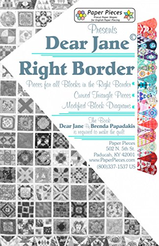Dear Jane: Paper Pieces for all of the Blocks in Right Border of the historic Dear Jane Quilt (English)