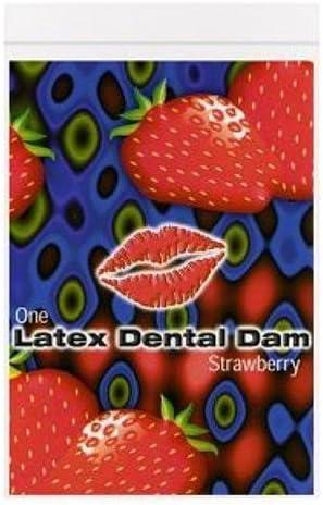 LINE ONE Latex Dental Dam, Strawberry