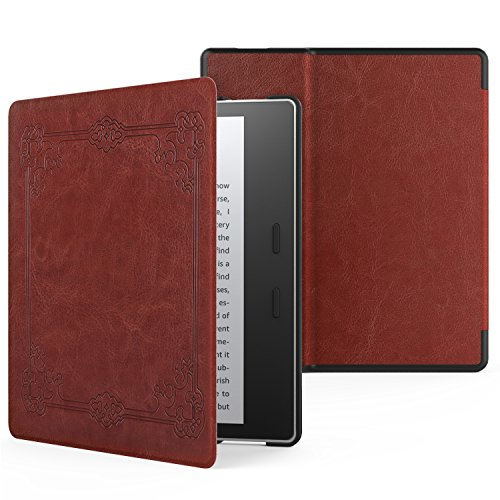 MoKo Case for All-New Kindle Oasis (9th Generation, 2017 Release) - Premium Ultra Lightweight Shell Cover with Auto Wake / Sleep for Amazon Kindle Oasis E-reader Case, Vintage Style by MoKo