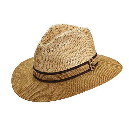 Tommy Bahama Men's Paper Braid Brim Safari Hat, Natural, L/XL (Braid Brim Hat Paper)