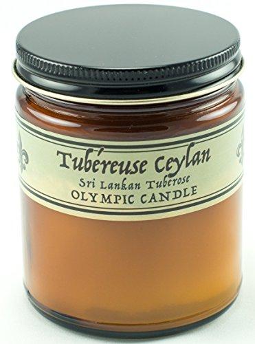 (Olympic Candle Parfum De Maison Soy Candle, 8 oz, Tuberose)