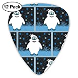 Snowie The Abominable Snowman Small Medium Large 0.46 0.73 0.96mm Mini Flex Assortment Plastic Top Classic Rock Electric Acoustic Guitar Pick Accessories Variety Pack