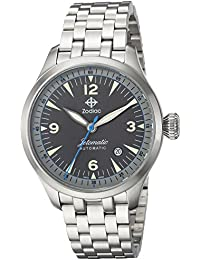 Mens Jetomatic Swiss Automatic Stainless Steel Casual Watch, Color:Silver-Toned. Zodiac