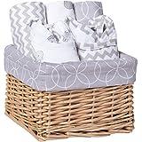 Trend Lab 7 Piece Bib & Burp Feeding Basket Gift Set...