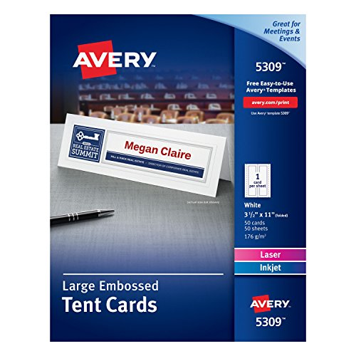 Avery White Laser Cards Count