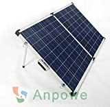 Anpowe 200W 12V Poly Portable Folding RV Solar Panel Kit With 15A Charger Controller and Anderson Plug, Alligator Clip