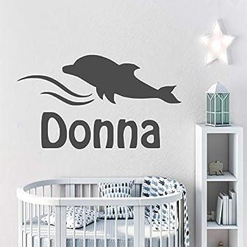 Lindo Delfín de Dibujos Animados Personalizado Nombre de los Niños ...