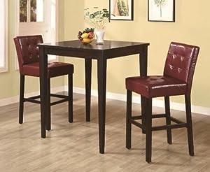 Amazon.com: Coaster Bar Table-Cappuccino: Kitchen & Dining