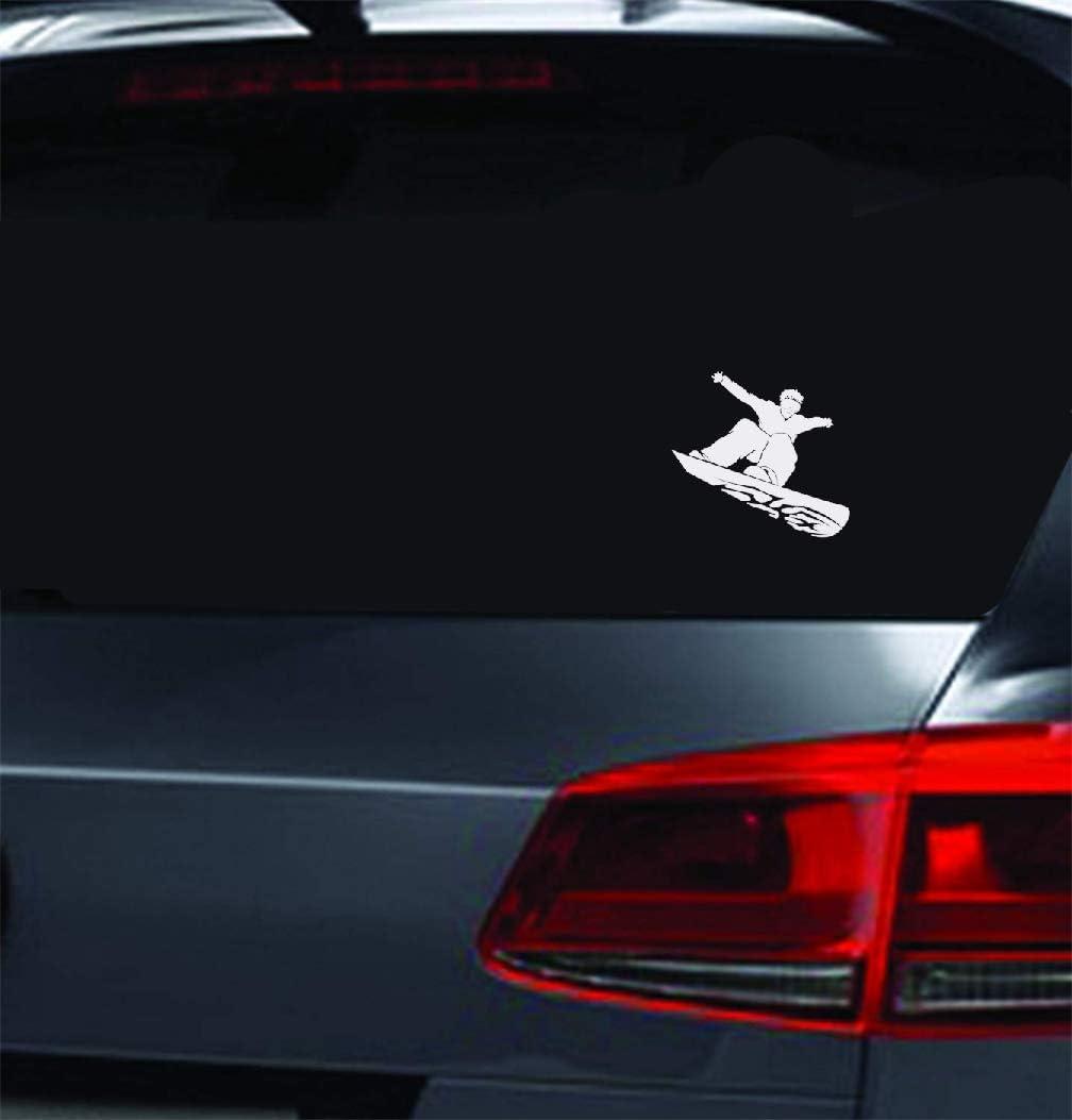 Pegatinas Personalizadas Para Coche Regalo de Navidad Personalidad Atractiva Clásico Snowboarding Decal Sticker Car Truck Moto For Car Laptop Window Sticker