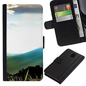 All Phone Most Case / Oferta Especial Cáscara Funda de cuero Monedero Cubierta de proteccion Caso / Wallet Case for Samsung Galaxy Note 3 III // Mountain Forrest Scenery