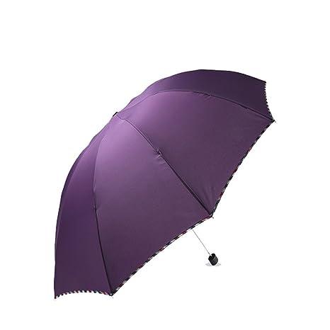 LybCvad paraguas Sombrillas de enrejado de Inglaterra para aumentar el paraguas sólido paraguas de sol de
