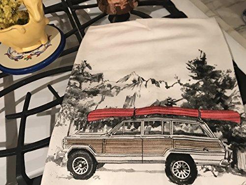 Jeep Grand Wagoneer Canoe Flour Sack Tea Towel (Kitchen Grande)