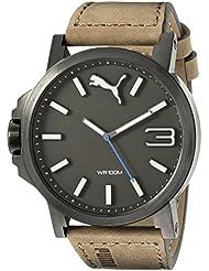 PUMA Mens PU103461017 Ultrasize 50 - Gun Brown Analog Display Japanese Quartz Brown Watch