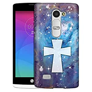 LG Tribute 2 Case, Slim Fit Snap On Cover by Trek Maltese Cross on Nebula Blue Case