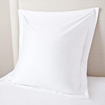 amazon com hotel quality 2pcs white solid euro pillow shams 600