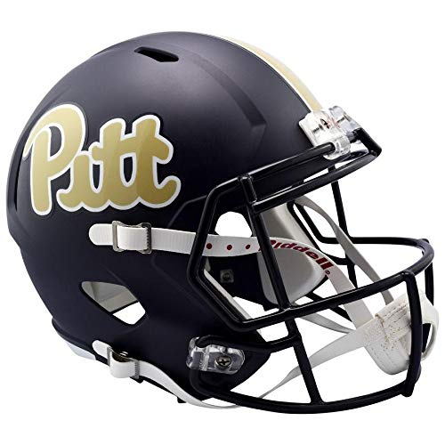 (Pittsburgh Panthers Navy Officially Licensed Speed Full Size Replica Football Helmet)