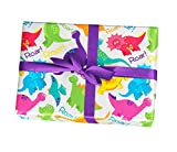Dinosaur gift wrapping paper sheets - 15 ft