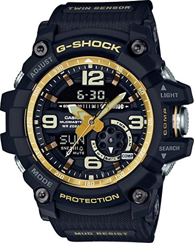 G-Shock GG-1000GB-1A Black and Gold Master of G Twin Sensor Series by Casio