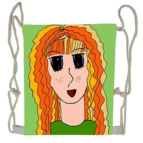 Clip Goldstone - AoshangGardeflag Anime Bonnie Goldstone aka Blu Gamma Gurl Style1 Drawstring Backpack Sports Bag Drawstring Backpack For Woman