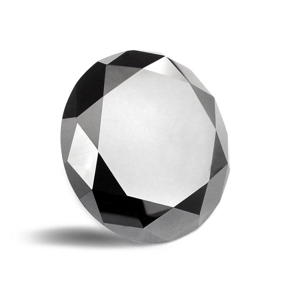 skyjewels 4 carat Black Diamond Round Brilliant Cut - Africa