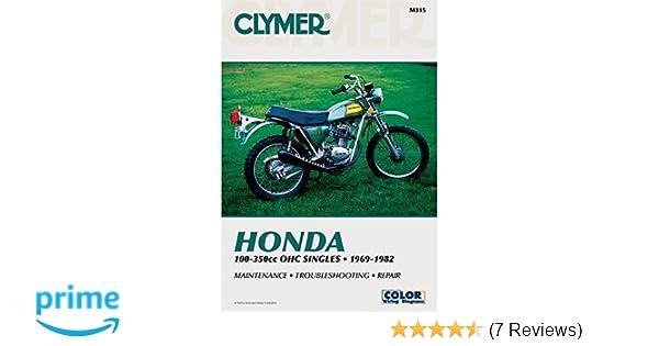 amazon com clymer honda 100 350cc manual m315 automotive rh amazon com 2018 Honda CB125 Honda CB125 1973
