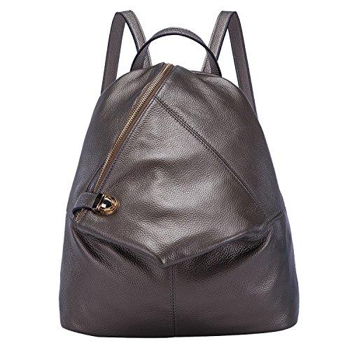 36113e5625 BOYATU Womens Leather Backpacks Ladies Travel Purse Satchel Shoulder School  Bags(Silver) - Buy Online in UAE.