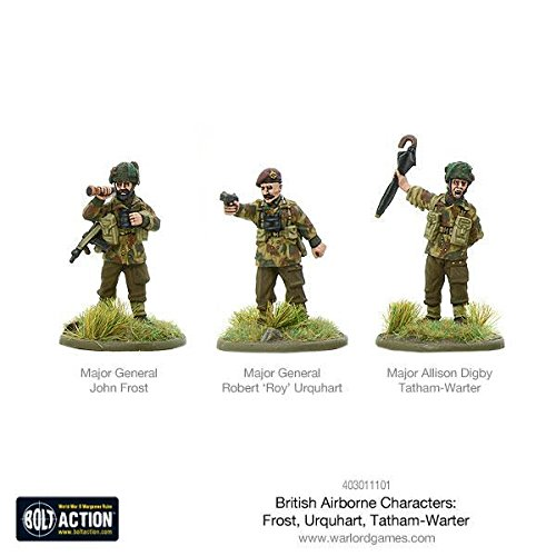 Bolt Action Warlord Games, miniatures - British Airborne Characters by Bolt Action
