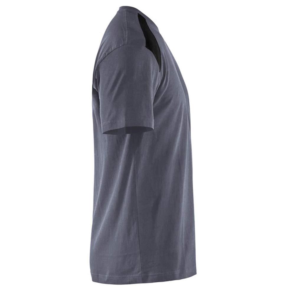 T-shirt Grau//Schwarz XXXL