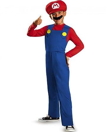 15bb094957d71b Disguise Mario Kinderkostüm Super Mario Videospiel rot-blau 137/149 (10-12