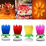 AGDREAM Happy Birthday Candle, Cake Candles (4 x Multicolors)
