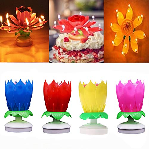 AGDREAM Happy Birthday Candle, Cake Candles (4 x Multicolors)]()