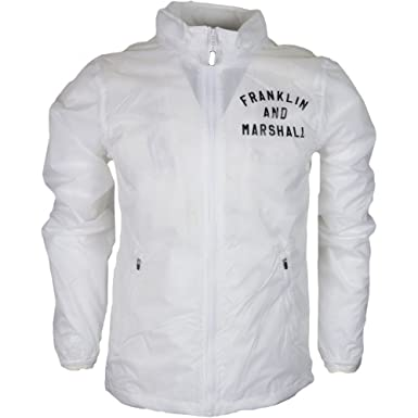 Franklin & Marshall - Chaqueta - para Hombre Blanco Blanco Large: Amazon.es: Ropa y accesorios