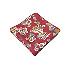 Sitong men's cotton multicolor small floral printed pocket square handkerchief(MKH-161)