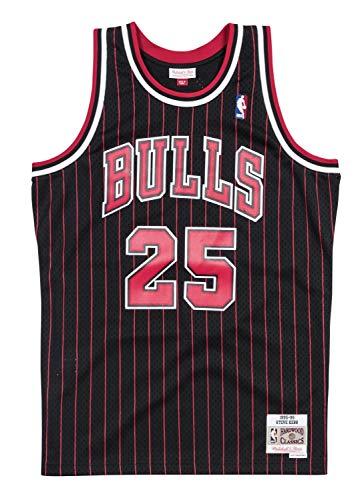 Steve Kerr Chicago Bulls Mitchell and Ness Men's Black Throwback Jesey Medium
