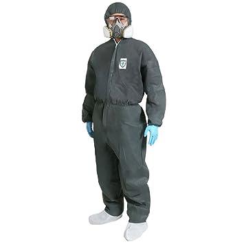 5P impermeable a prueba de polvo seguridad ropa protectora desechable batas traje con puños elásticos campana