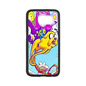 Custom for Samsung Galaxy S6 Cell Phone Case Black Adventure Time With Finn And Jake ThemeLS2748