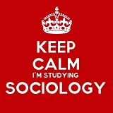 Keep Calm Im Studying Sociology Coaster - 9cm Square by Artform Prints