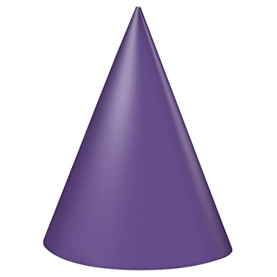 Purple Party Hats, 8ct: Kitchen & Dining