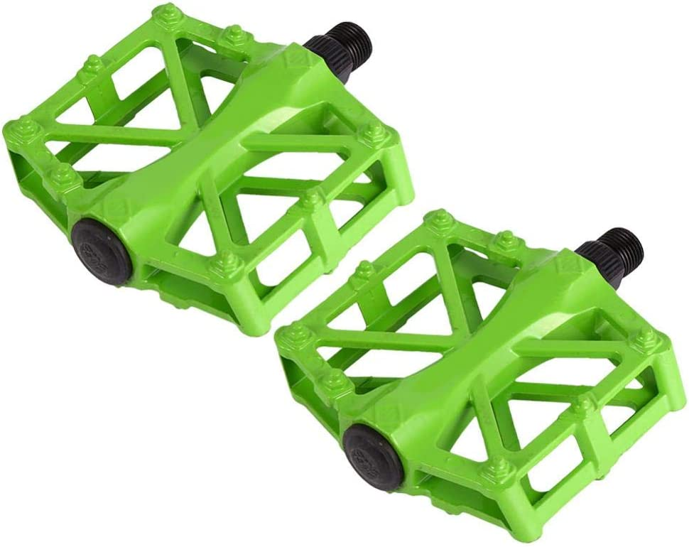 VGEBY1 Pedales de Bicicleta, Cuerpo de fundición de aleación Ligera de Aluminio, Pedal de cojinete Sellado para 9/16 MTB BMX Road Mountain Bike Cycle - 5 Colores Brillantes/Antideslizante