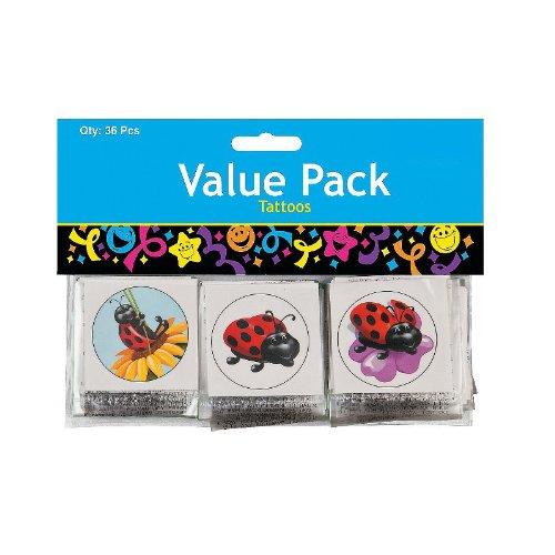 Pack of 36 Ladybug Tattoos - FE704078V