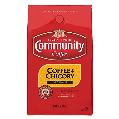 Community Coffee Ground Coffee and Chicory, 32 Ounce (Pack of 2)