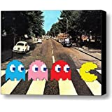 Framed The Beatles Abbey Road Pac Man Videogame parody 9 X 11 Art Print Limited Edition