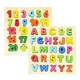 GEMEM Alphabet Puzzles Wooden Upper Case Letter