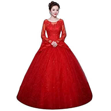 a39cb659a3461 THE LONDON STORE Women's Festival Red Evening Dress Fashion Classic ...